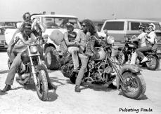 PULSATING PAULA DAYTONA BEACH BIKE WEEK HARLEY BIKER TRAMPS 1980S