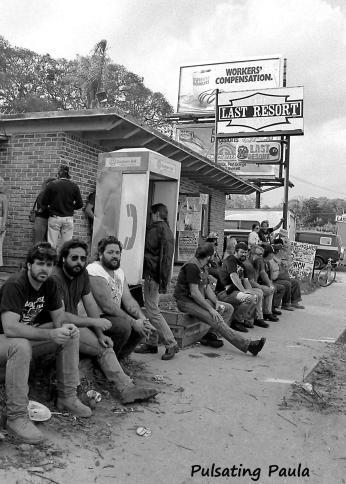 PULSATING PAULA DAYTONA BEACH BIKE WEEK LAST RESORT BIKER BAR 1980S