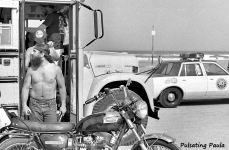 PULSATING PAULA DAYTONA BEACH BIKE WEEK TRIUMPH BONNEVILLE 1980S