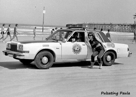 PULSATING PAULA DAYTONA BEACH POLICE BIKE WEEK 1980S