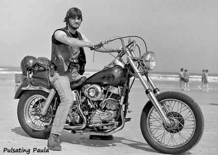PULSATING PAULA DAYTONA BIKE WEEK 1980S HARLEY BIKER