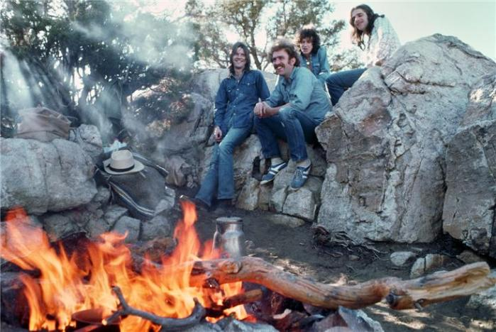 The Eagles campfire Henry Diltz