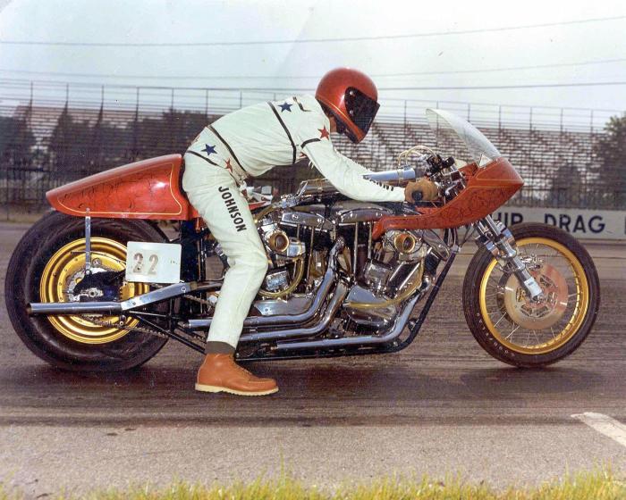 Danny Johnson Harley-Davidson Goliath drag bike