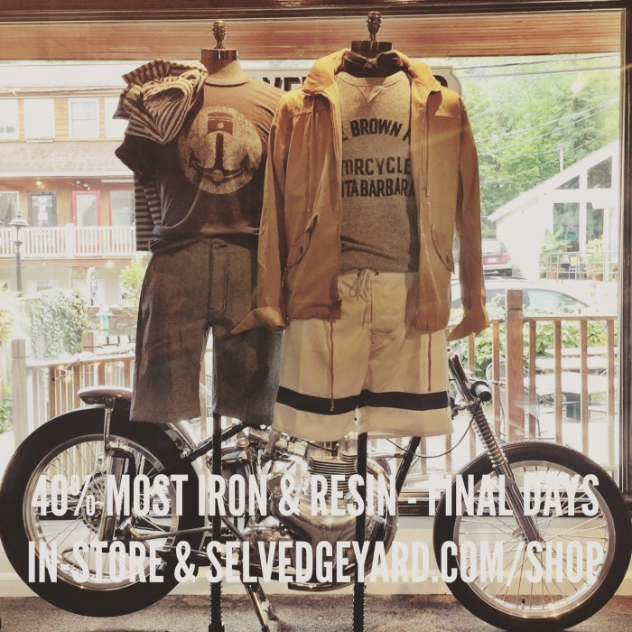IRON AND RESIN SALE TSY THE SELVEDGE YARD