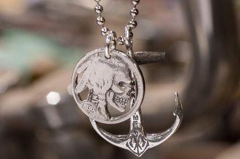 steve west silver piston hobo jewelry coin