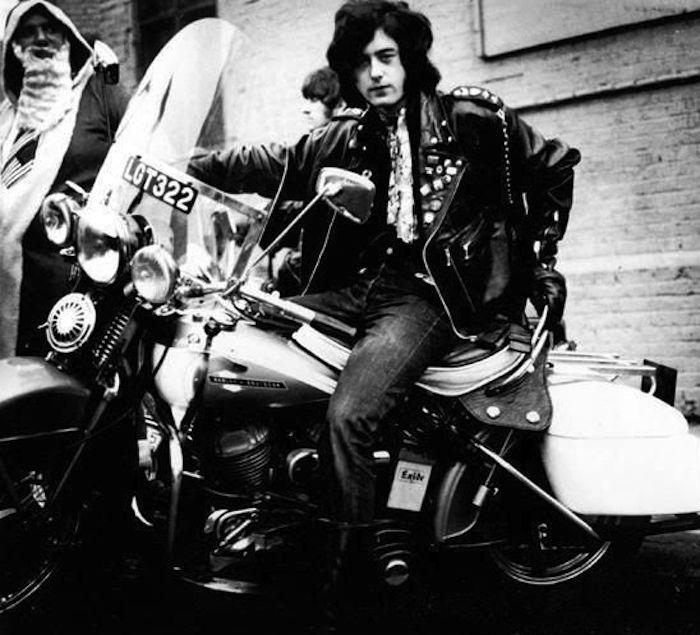 jimy page led zeppelin harley-davidson motorcycle