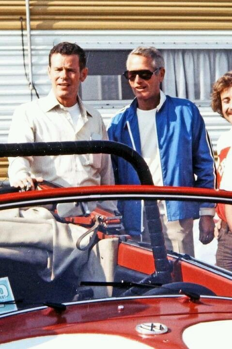 PAUL NEWMAN BOBBY UNSER INDY VW HOT ROD FORD V8