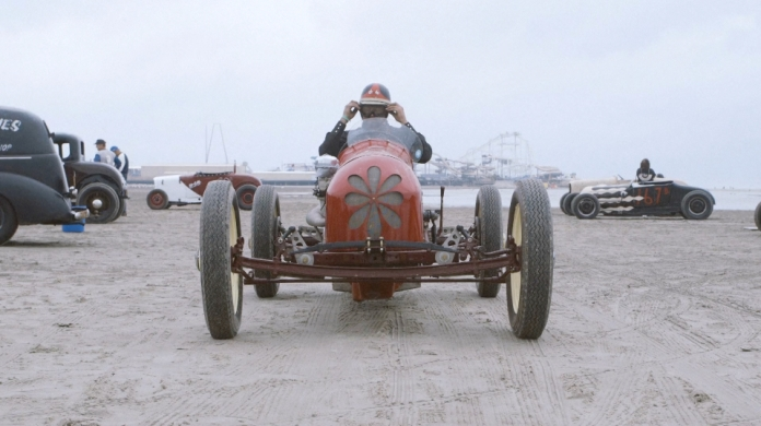 A VINTAGE HOT ROD TROG THE RACE OF GENTLEMEN WILDWOOD NJ BEACH PHOTO