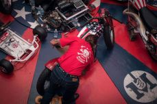 THE HANDBUILT SHOW AUSTIN MOTORCYCLE STEVE WEST THE SELVEDGE YARD AMDC WALL OF DEATH