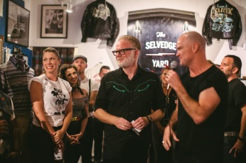 TSY THE SELVEDGE YARD DION NASH TRIUMPH AND DISASTER NEW HOPE PA SHOP PARTY GREASER GETDOWN