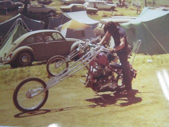 JOHN HARMAN CUSTOM SPIRDER CHOPPER OLD PHOTO
