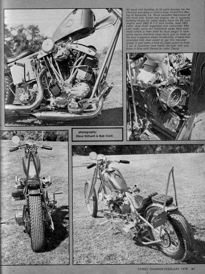 JOHN HARMAN SPIRDER CHOPPER MOTORCYCLE MAGAZINE ARTICLE 4