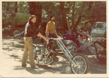 JOHN HARMAN SPIRDER CUSTOM CHOPPER OLD PHOTO