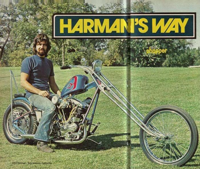 JOHN HARMAN SPIRDER CUSTOM MOTORCYCLE STREET CHOPPER MAGAZINE