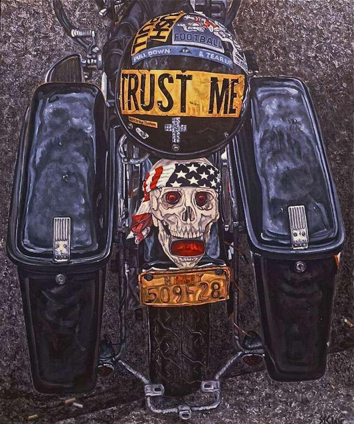 trust me richards st. clair biker art