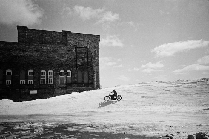 STEPHEN M MARINO THE FROZEN FEW TSY THE SELVEDGE YARD HARLEY-DAVIDSON CRAZY EIGHTS VINTAGE MOTORCYCLE ICE RACING