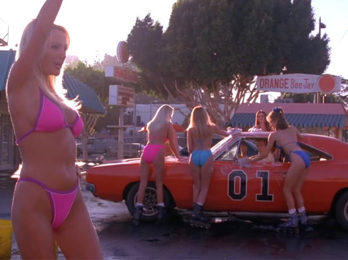 dukes of hazzard bikini swimsuit car wash general lee.jpg