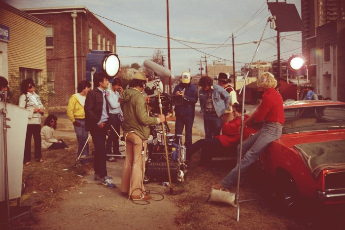 DUKES OF HAZZARD FILMING ON SET GENERAL LEE JOHN SCHNEIDER