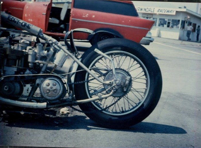 1966 Edgy One Triumph drag bike motorcycle pic
