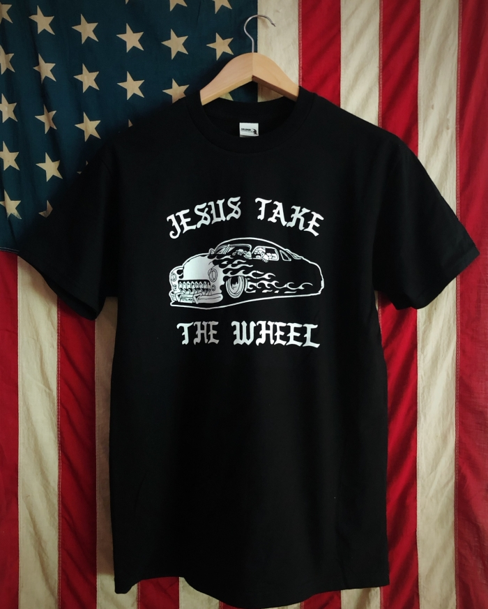 TSY_THE_SELVEDGE_YARD_TEE_T-SHIRT_JESUS_TAKE_THE_WHEEL_BLACK_FRONT